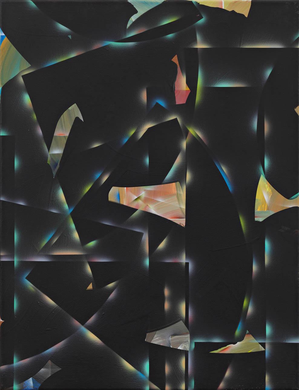 Ecken_Kurven schwarz 2012 65x50cm