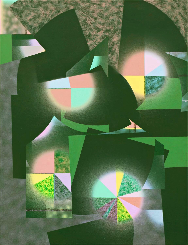 gruenes Pastellbild 2012 94x72cm