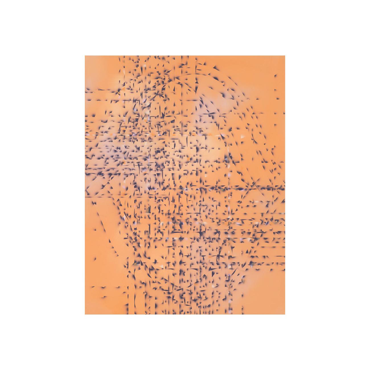dunkles Violett/Kette und Schuss . 2017 . 94 x 72 cm . Acryl auf Baumwolle