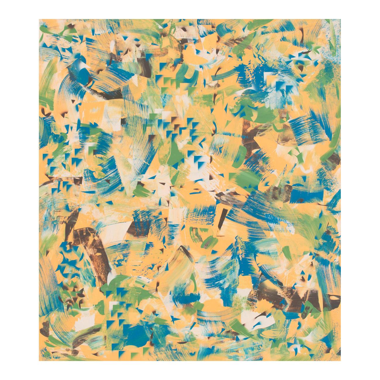 Piniennadel/man selbst . 2017 . 170 x 160 cm . Acryl auf Baumwolle