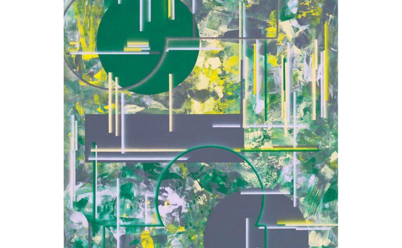 die innere Seite/Bleifarbe . 2017 . 190 x 130 cm . Acryl auf Baumwolle
