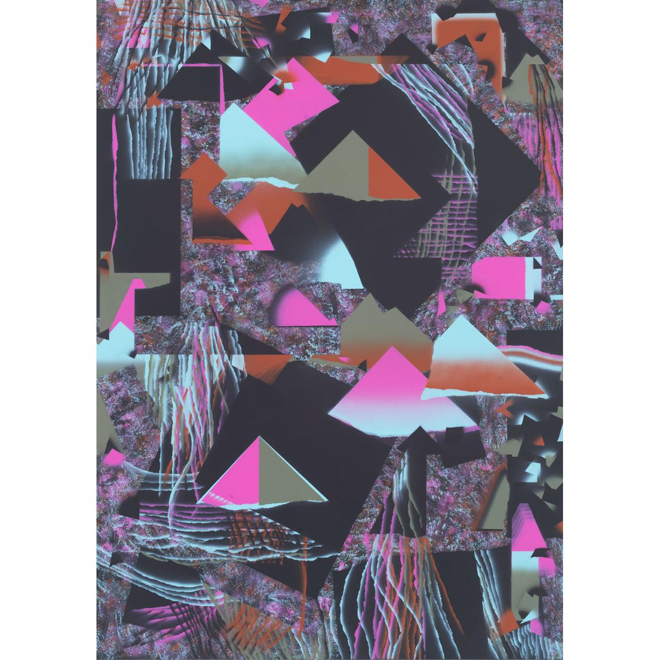 schwärzliches Grün/Verschiedenartigkeit . 2017 . 190 x 135 cm . Acryl auf Baumwolle