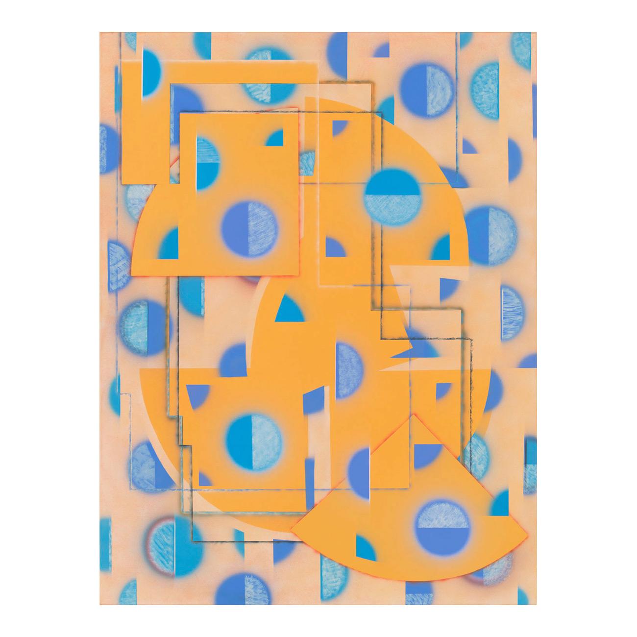 Bild gelbblau . 2011 . 145 x 110 cm . Acryl auf Baumwolle