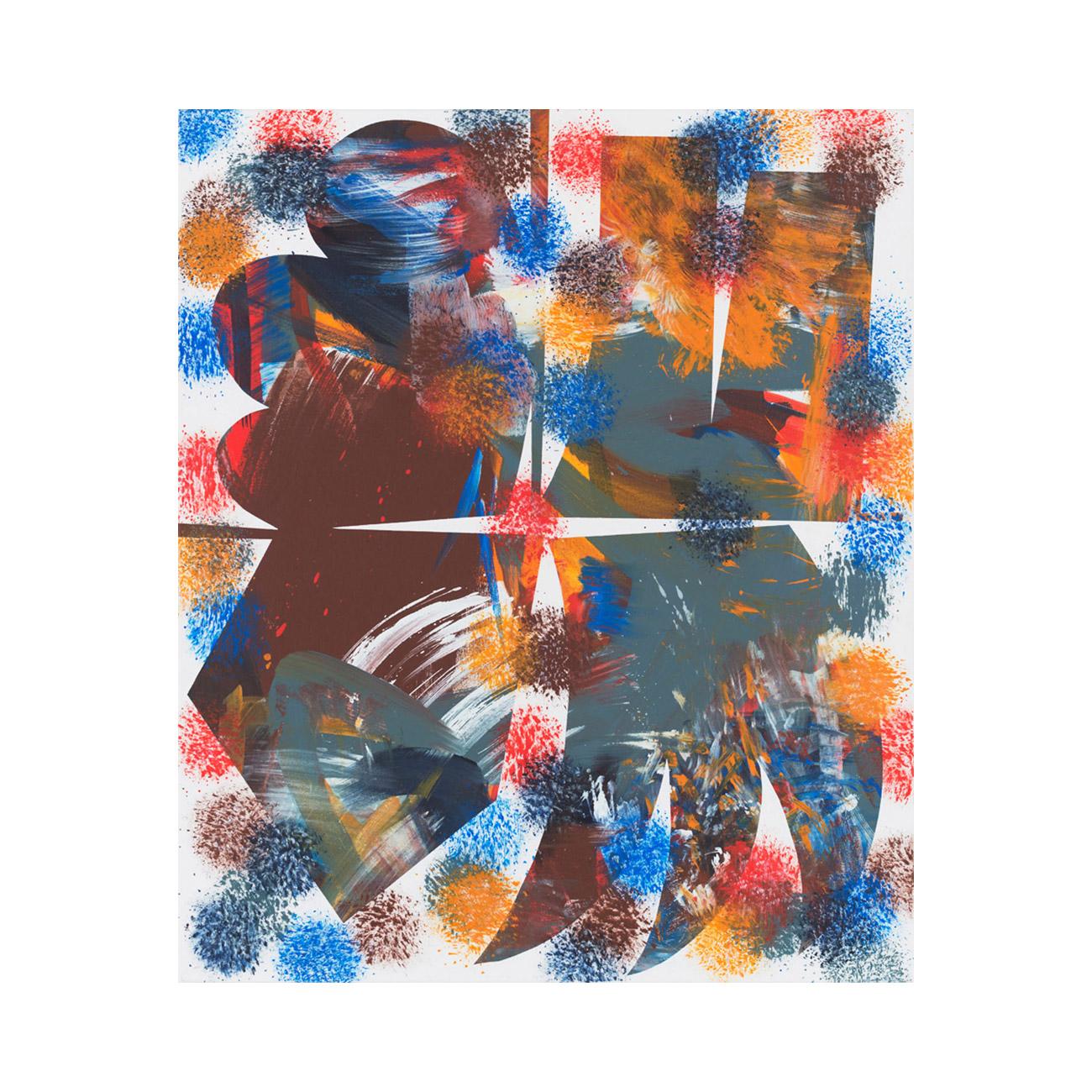 o.T. ( Feuer ) . 2015 . 125 x 105 cm . Acryl auf Baumwolle