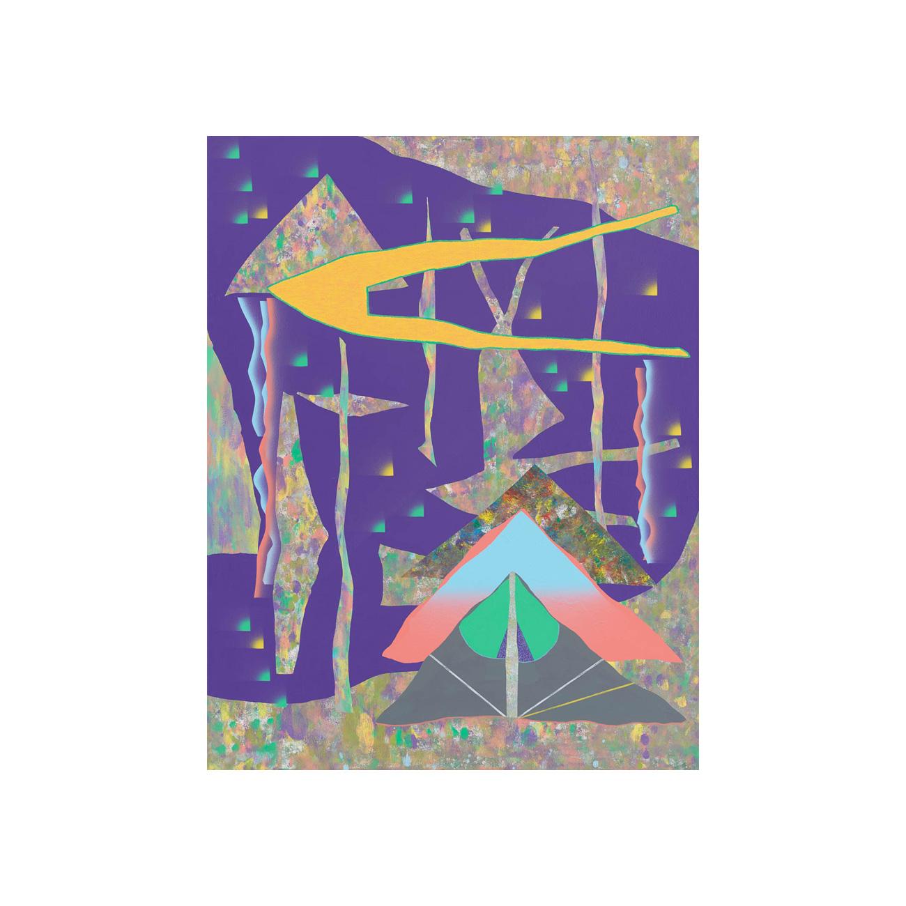Luis . 2019 . 94 x 72 cm . Acryl auf Baumwolle