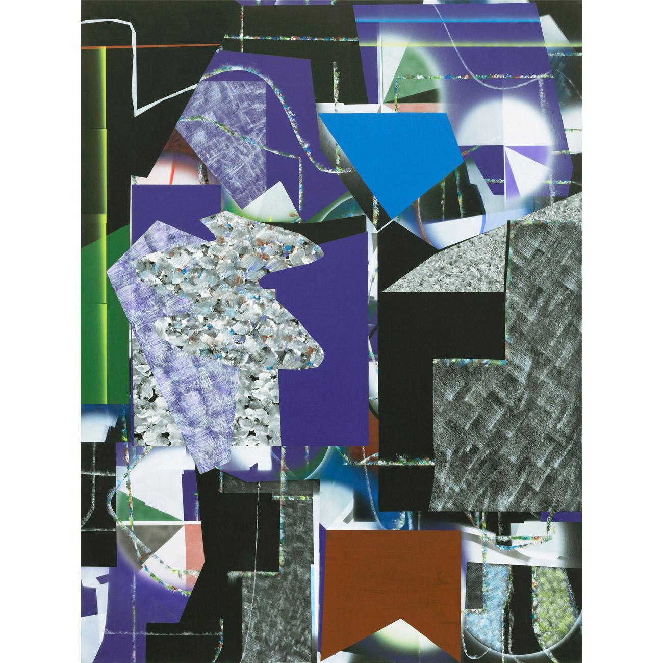 Orientierung (Streckung und Drehung) . 2012/13 . 200 x 150 cm . Acryl auf Baumwolle
