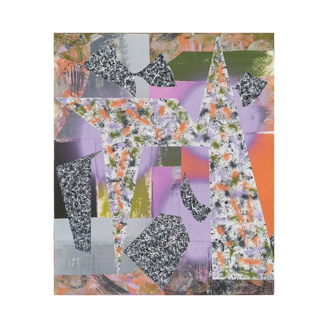 Zackenbild natur . 2015 . 125 x 105 cm . Stoffe und Acrylfarbe auf Baumwolle