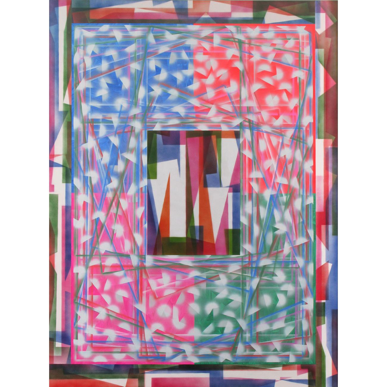 bubble shaker . 2008 . 200 x 150 cm . Acryl auf Baumwolle