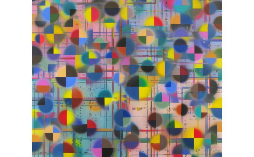 gelb, schwarz und die anderen . 2009/2010 . 200 x 150 cm . Acryl auf Baumwolle