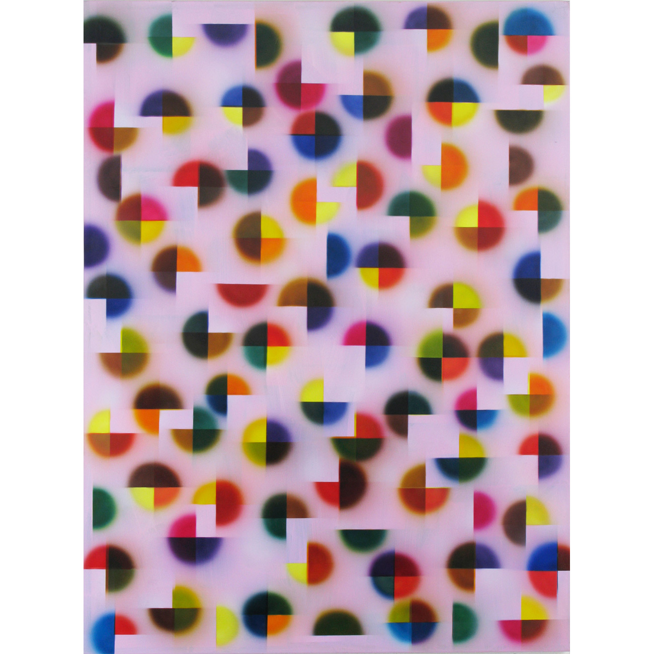 nach oben gegen unten . 2009 . 200 x 150 cm . Acryl auf Baumwolle