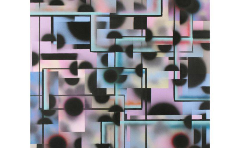 Schieben und Rollen . 2009 . 200 x 150 cm . Acryl auf Baumwolle