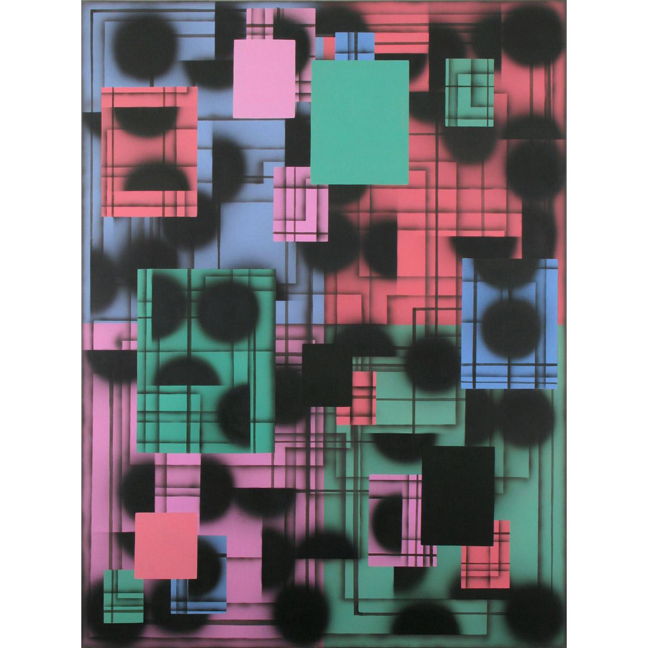 vier Felder . 2008 . 200 x 150 cm . Acryl auf Baumwolle