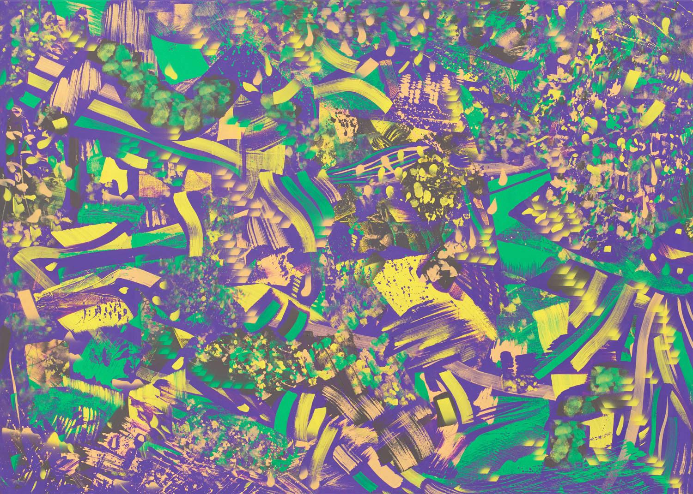 Peripherie . 2018 . 135 x 190 cm . Acryl auf Baumwolle