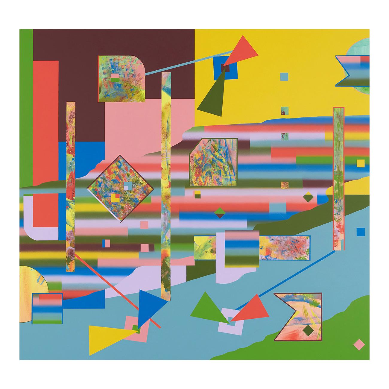 Am Kap . 2020 . 170 x 180 cm . Acryl auf Baumwolle