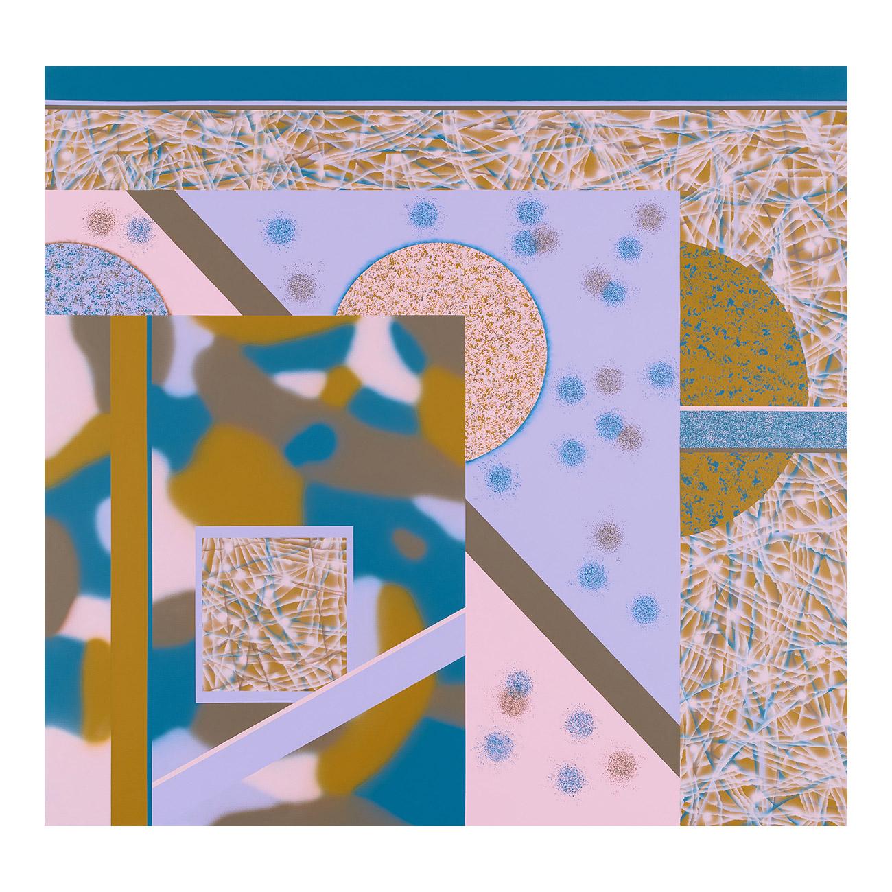 F . 2020 . 170 x 180 cm . Acryl auf Baumwolle