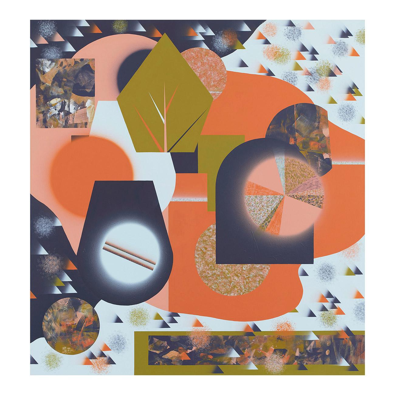 Indigoweiss/Geduld . 2018 . 180 x 170 cm . Acryl auf Baumwolle