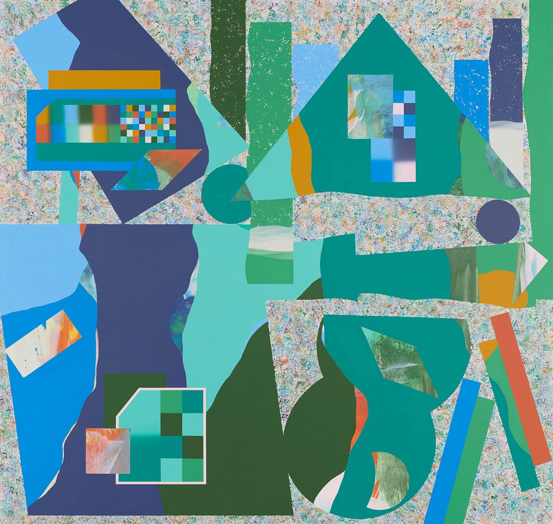 fünf Elemente/Ordnung . 2020 . 170 x 180 cm . Acryl auf Baumwolle