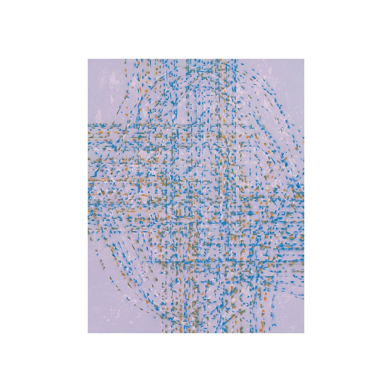 Horizont . 2019 . 95 x 75 cm . Acryl auf Baumwolle