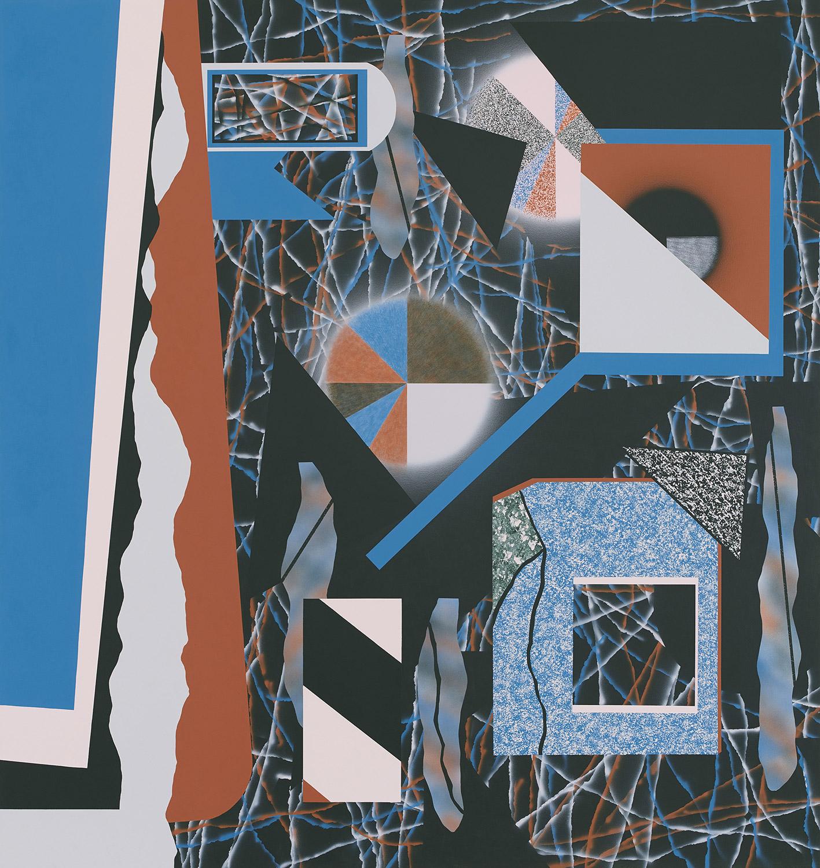 Tag/Nachtbild . 2020 . 180 x 170 cm . Acryl auf Baumwolle