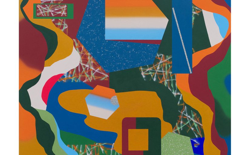 Hokusaibildraum . 2020 . 180 x 170 cm . Acryl auf Baumwolle
