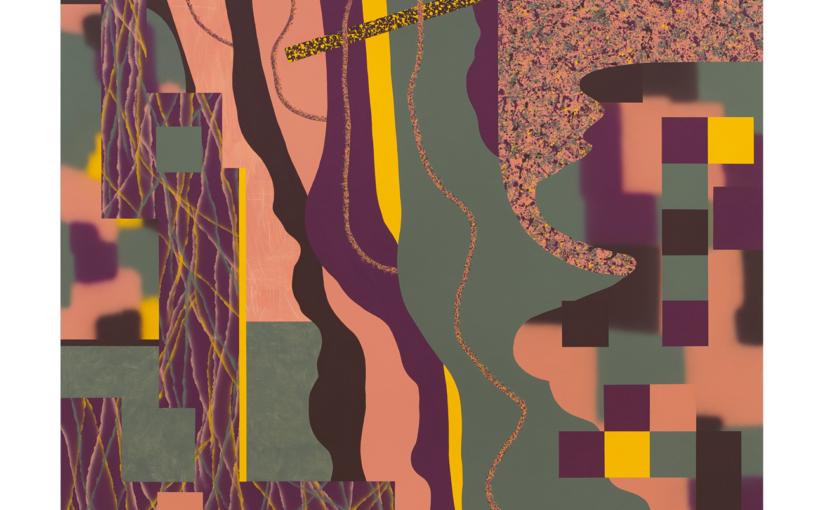 Gefühl für Poesie/Purpurblau . 2020/21 . 180 x 170 cm . Acryl auf Baumwolle