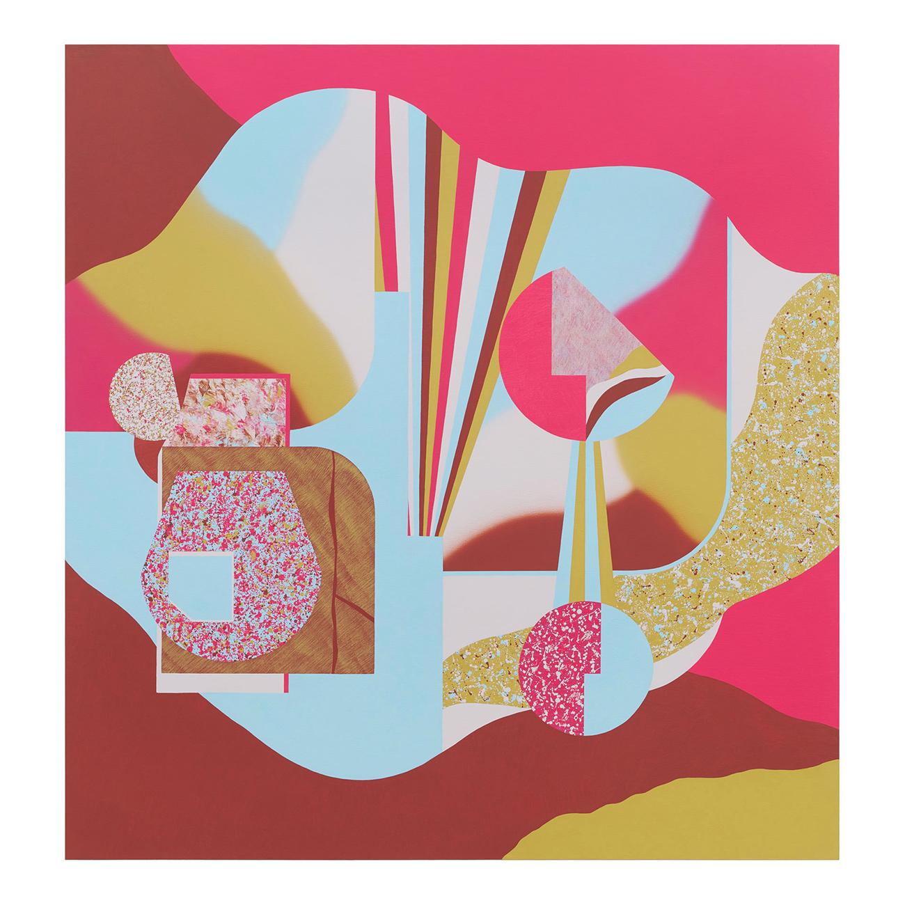 Rosarot/Morgendämmerung . 2021 . 180 x 170 cm . Acryl auf Baumwolle
